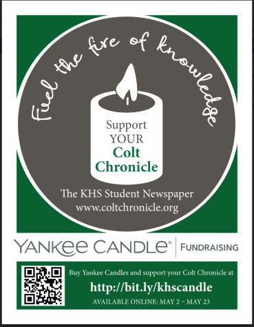 COLT CHRONICLE YANKEE CANDLE FUNDRAISER!
