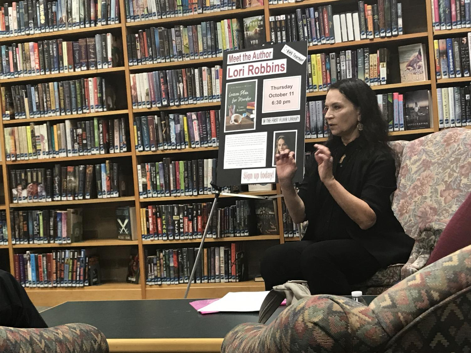 English teacher Lori Robbins have a book talk and reading of her published book
