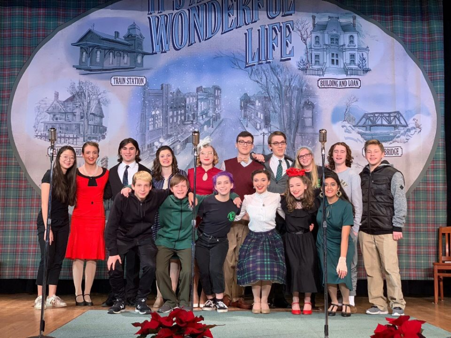The full cast and crew of It's a Wonderful Life: A Live Radio Play. Photo courtesy of Katie Nieto.