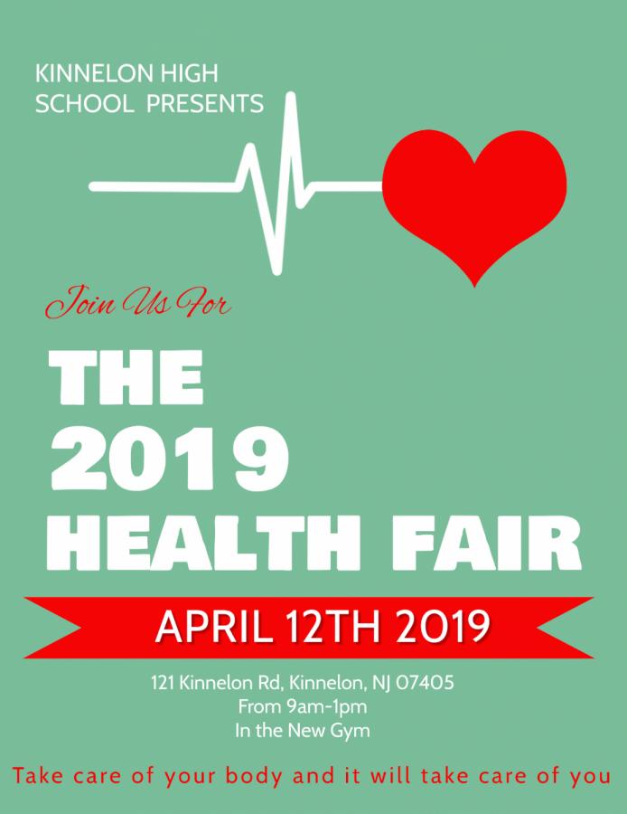 Flyer for the KHS first annual health fair.