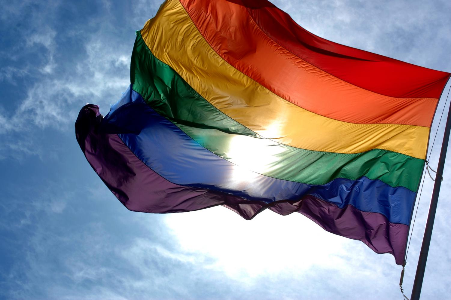 The Pride Flag, composed of all the colors of the rainbow, is a symbol of overcoming fear and hate for the LGBTQ+ community.