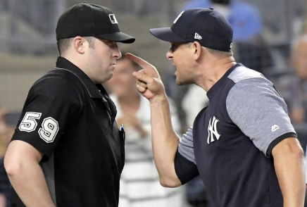 Boone Ejected in Yankees Win