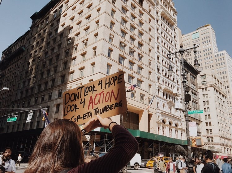 Protesters+of+all+ages+were+involved+with+the+protests+for+awareness+of+climate+change+held+on+Sept.+20+and+27+in+New+York+City.