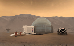 An artist's conception of a Mars habitat.