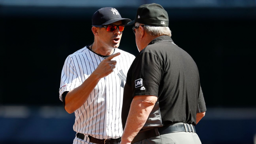 Boone yelling at umpire Joe West