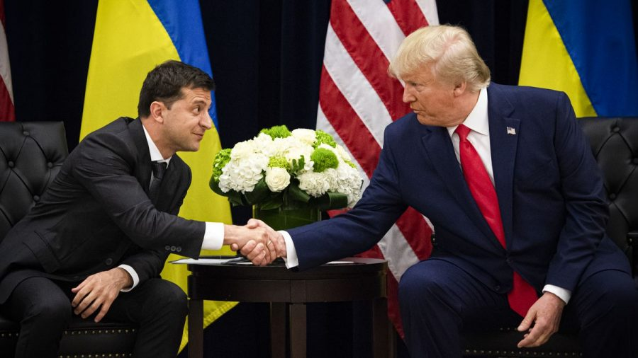 Ukrainian President Volodymyr Zelensky alongside President Trump at the U.N. General Assembly.