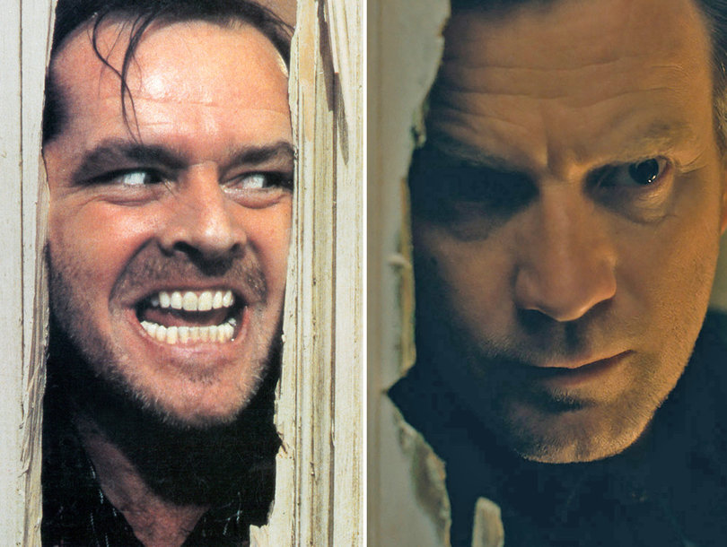 Jack Torrance (played by Jack Nicholson) and Dan Torrance (played by Ewan McGregor) from The Shining and Doctor Sleep respectively.