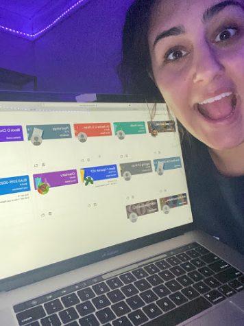 Junior Renee Ritacco pursuing her study skills on future online tests.
