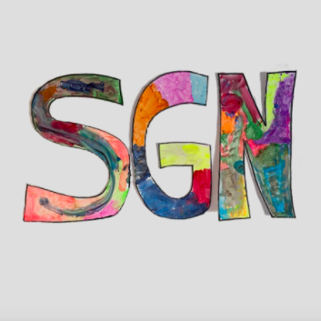 The Some Good News logo shown through every episode by John Krasinski.