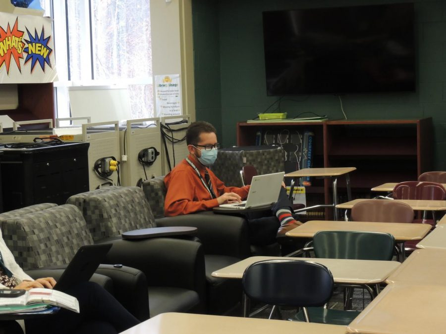 The school's library is now used as an additional faculty room in order to spread out students and staff.