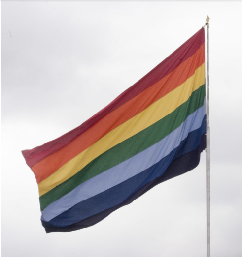 Picture of the pride flag  from Unsplash.com