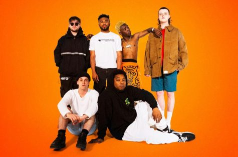 The members of Brockhampton during a photoshoot released around the time of their splitting announcement.